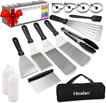 Perfect for Outdoor BBQ Teppanyaki and Camping Professional Stainless Steel Flat Top Grill Cooking Kit Griddle Accessories Kit