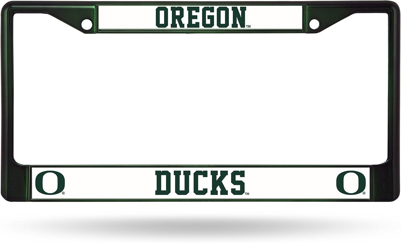 Rico Industries NCAA Oregon Ducks Team Colored Chrome License Plate Frame, Dark Green