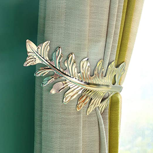 Retro Flower Curtain Tie Back Tieback Holders Wall Double Hooks Decor LC