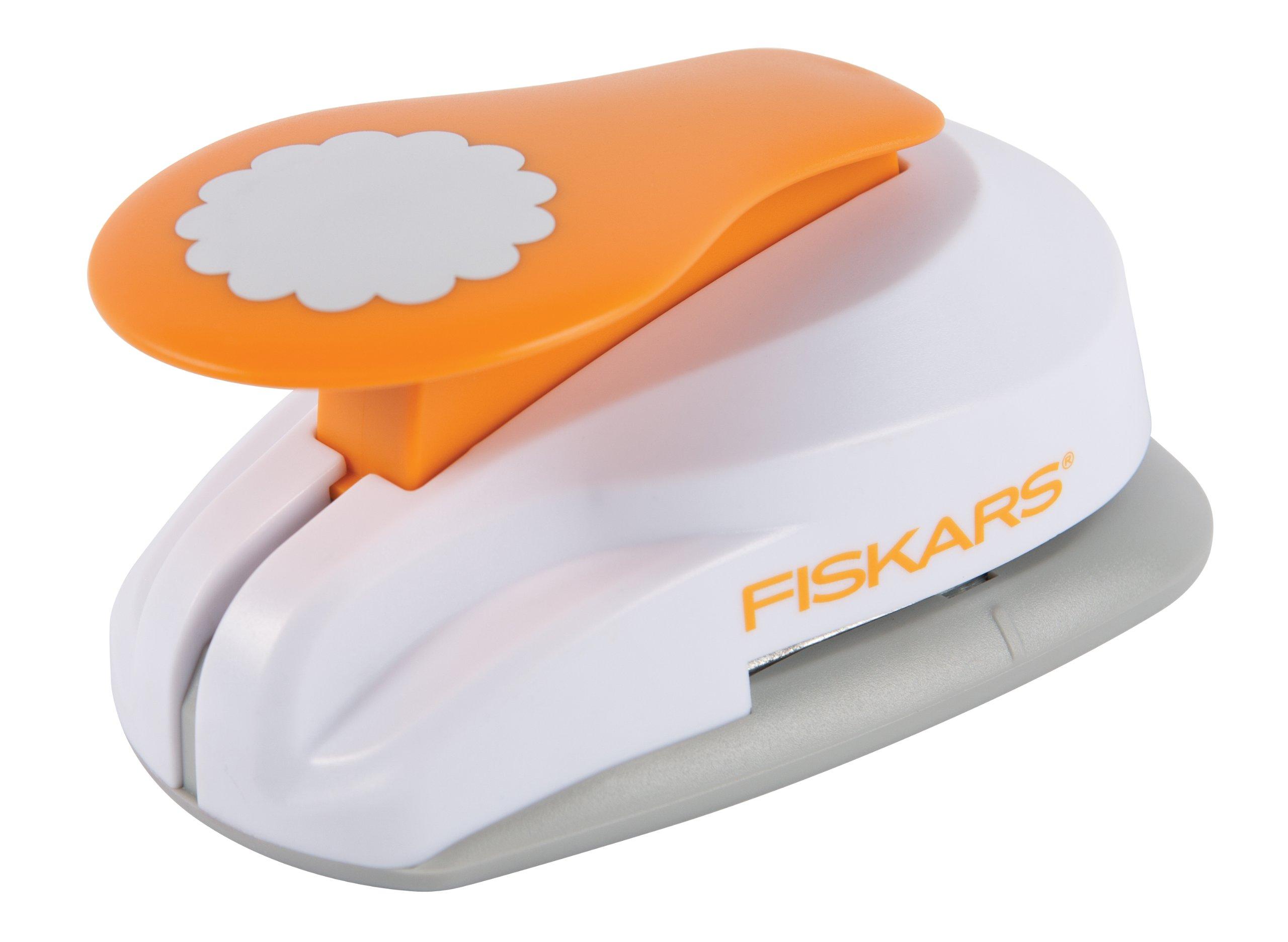 Fiskars 2X-Large Lever Punch, Pretty Scallops