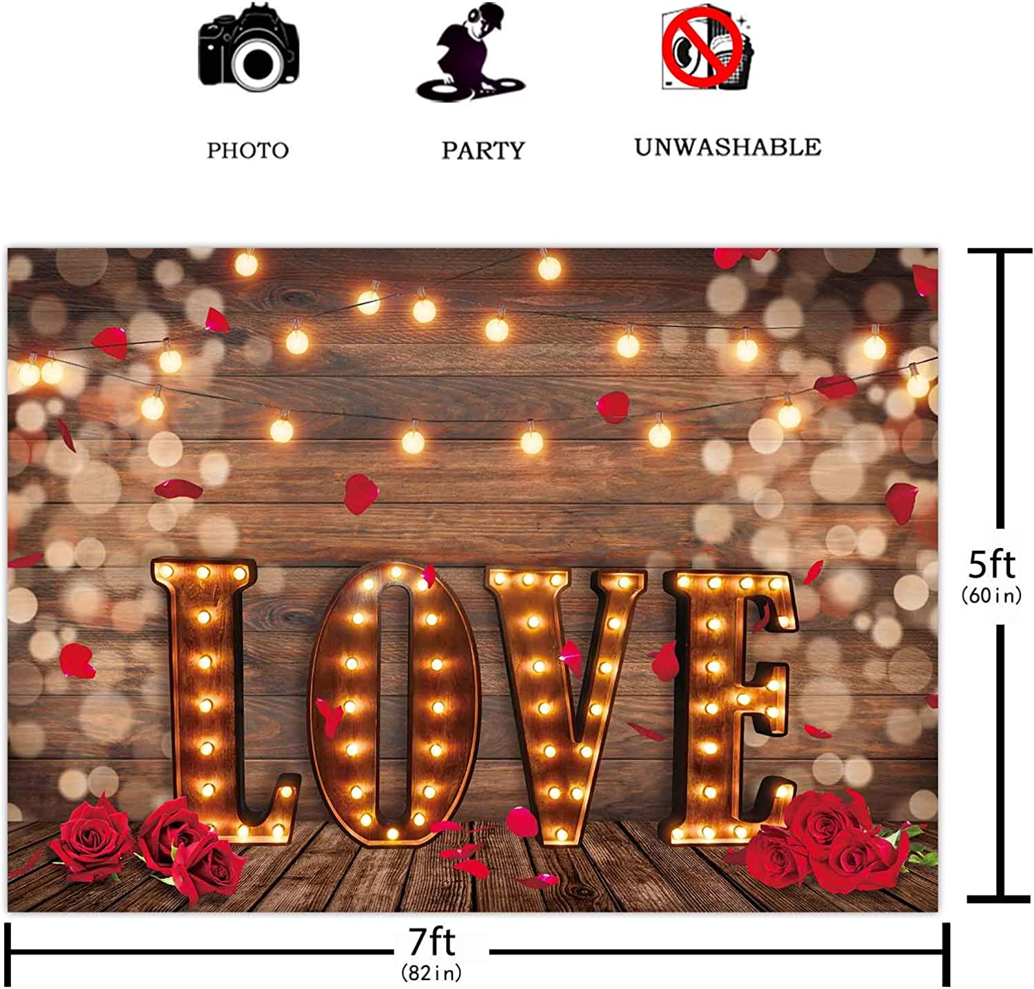 Levoo Flannel Marble Pattern Background Banner Photography Studio Birthday Family Party Holiday Celebration Romantic Wedding Photography Backdrop Home Decoration 7x5ft,chy621