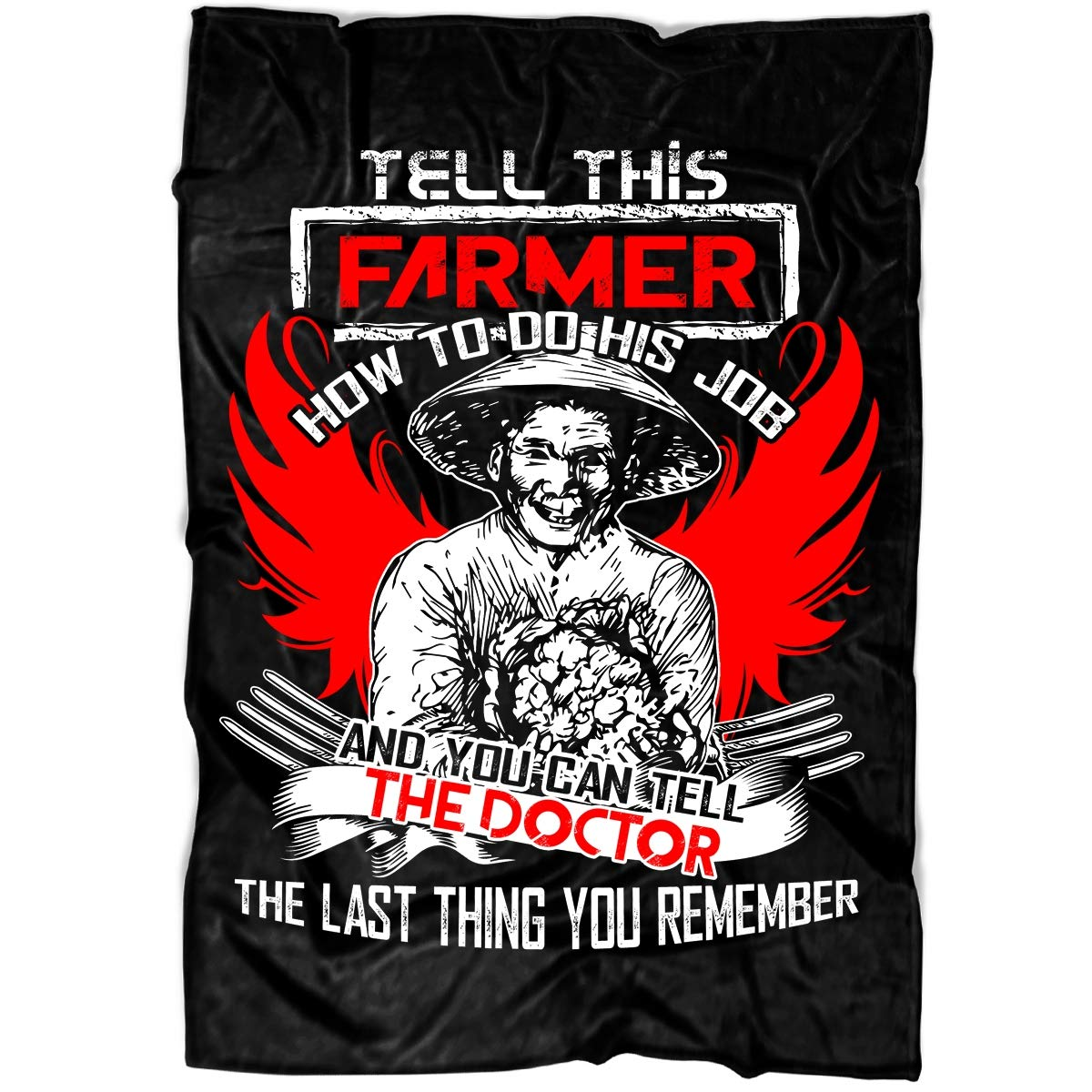 Amazon.com: Dont Tell This Farmer Soft Fleece Throw Blanket ...
