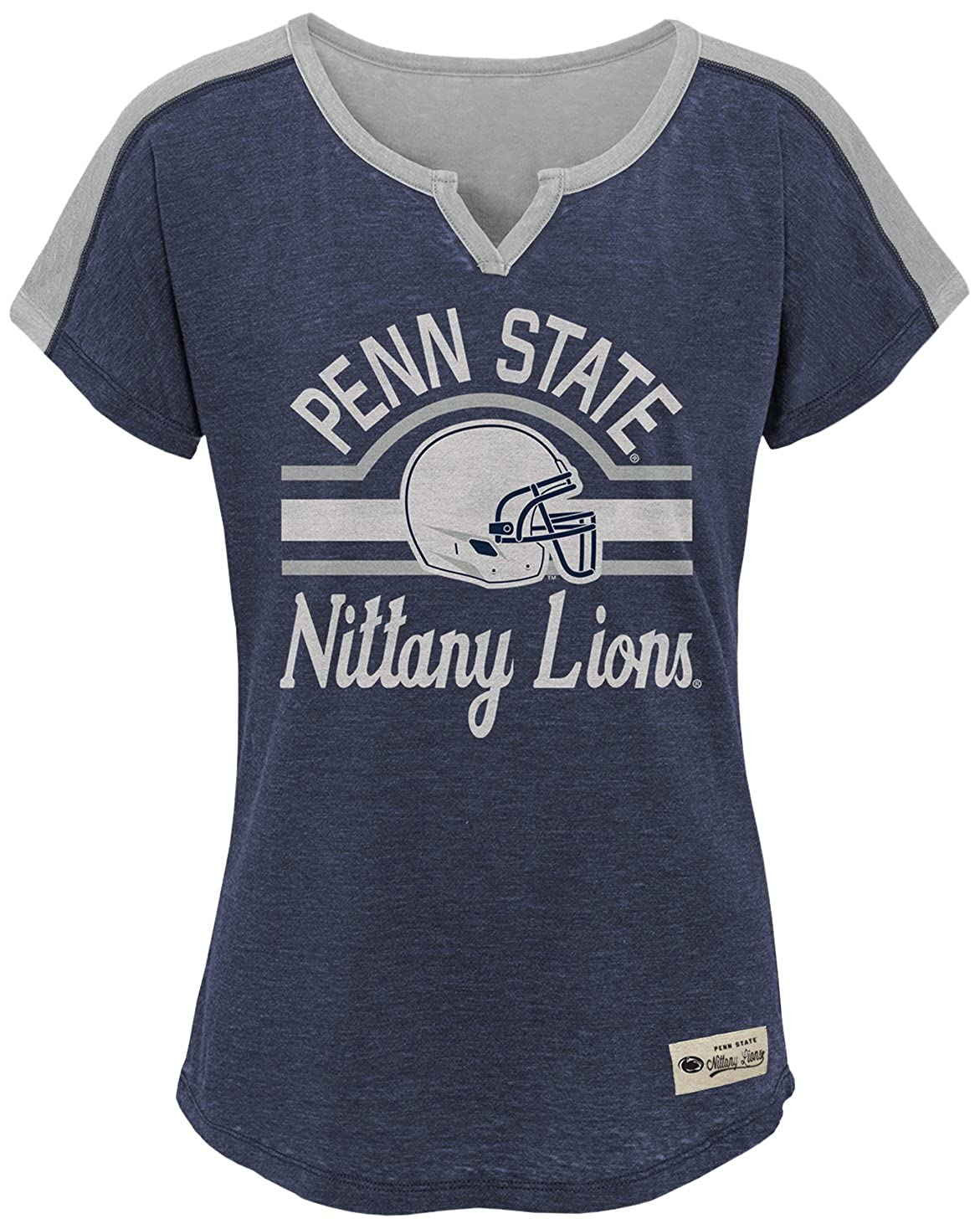 Youth Large 14 NCAA by Outerstuff NCAA Penn State Nittany Lions Youth Girls Tribute Raglan Football Tee Dark Navy