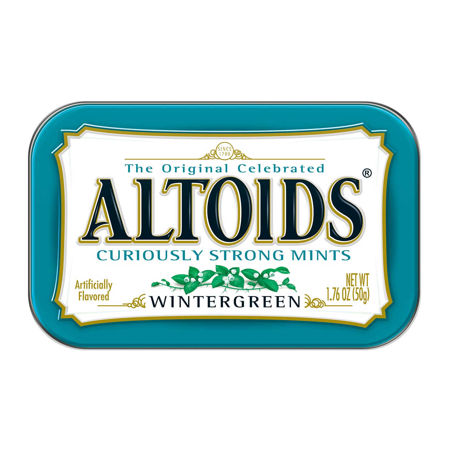ALTOIDS Classic Wintergreen Breath Mints, 1.76-Ounce Tin (Pack of 12) by Altoids (Image #4)