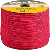 Corda Multifilamento Trançada 10 X 190 M, Vermelha, Em Carretel, Vonder Vdo2924 Vonder Vermelha