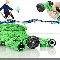 Flexibele tuinslang, 30M / 100FT Uitbreidbare Tuinslang Rekbare waterslang Waterslang flexibel verlengbaar met 7 functie…
