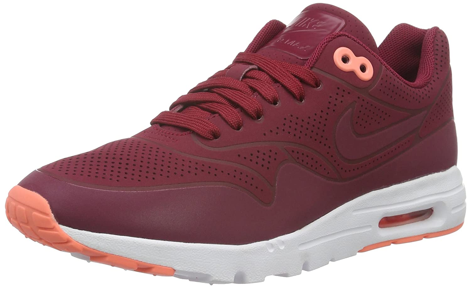 online store d2855 33185 Nike Women s Air Max 1 Ultra Moire Noble Red Synthetic Running Shoes 9