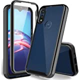 HATOSHI Motorola Moto E 2020 Case with Built-in Screen Protector, Heavy Duty Protection, Crystal Clear Back, Full-Body Shockp