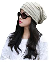 EUBUY Unisex Fashionable Knit Baggy Beanie Beret Winter Warm Cap Hat