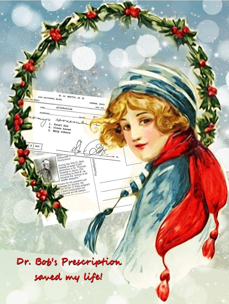 Dr  Bob's Prescription for Recovery Reproduction Postcard