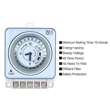 WOSOSYEYO Temporizador mecánico 230 V Recordatorio del Contador de Tiempo 15min 24h Cocina Cuenta atrás Controlador de Ahorro de energía Interruptor de sincronización Industrial: Amazon.es: Juguetes y juegos