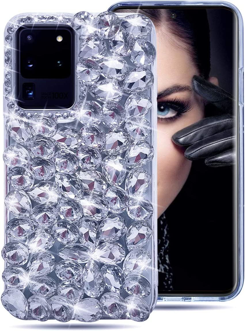 S20+ Just Accessories/® Rear Camera Decorations fits Samsung Galaxy S20 S20 Ultra 3D Bling Diamond Lens Protective Ring Decorate Sticker Protector For Samsung Galaxy S20, Black