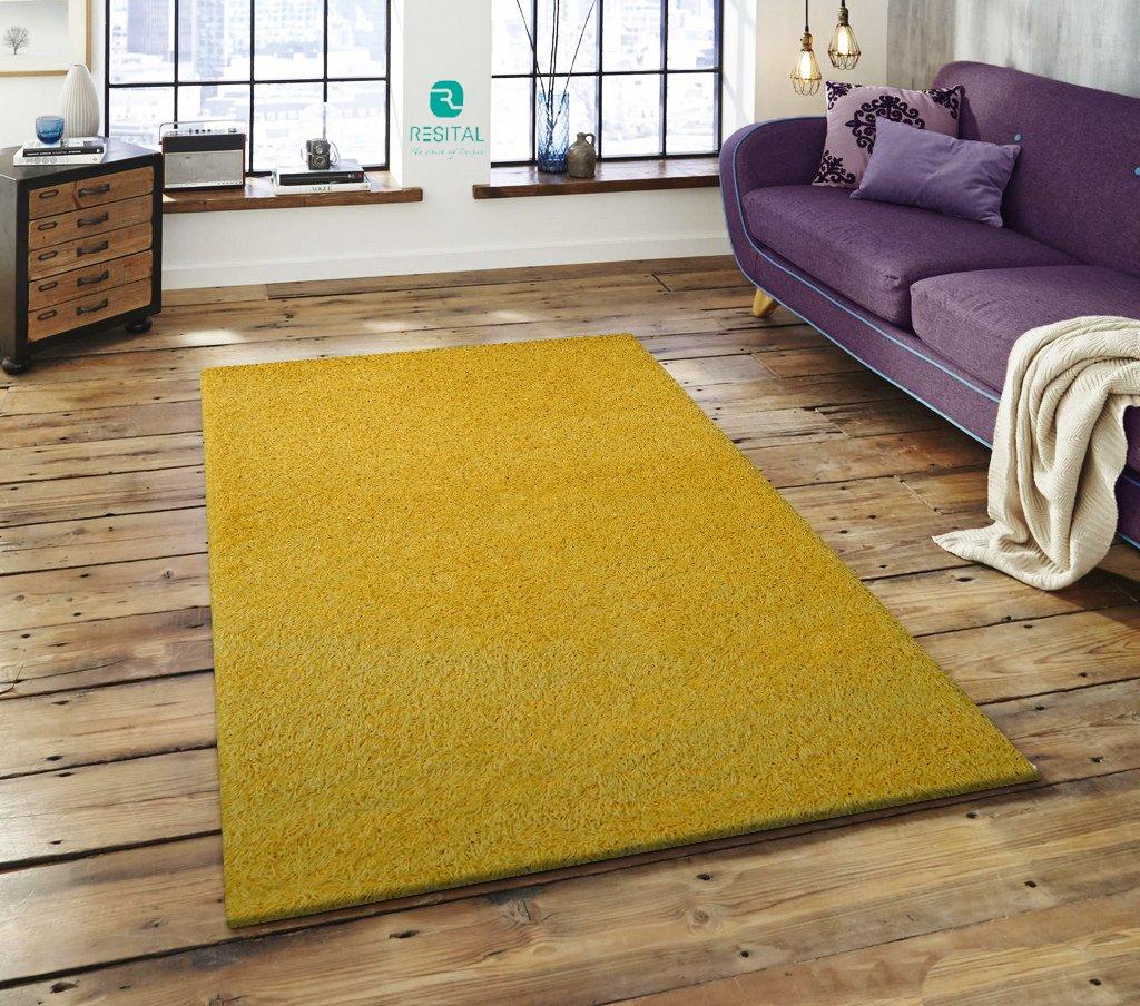 Keymura Shaggy Hochflor Teppich Top Qualität Langflor ca. 50 mm, Weich und trendig, Farbe Gelb, Größe  160x230 cm