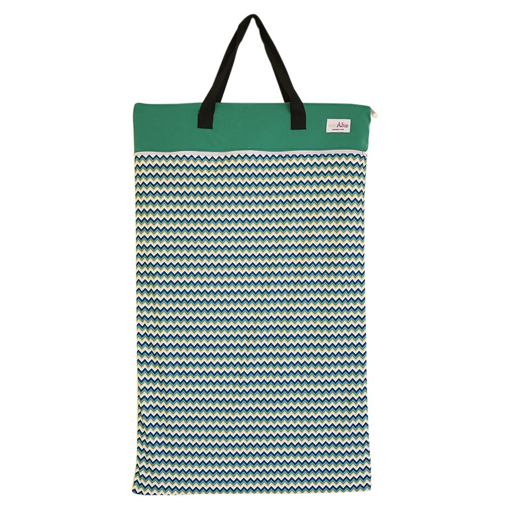 EcoAble Large Wet Dry Bag for Baby Cloth Diapers Storage or Laundry (Chevron) by Ecoable (Image #1)