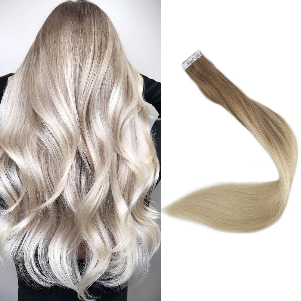 Full Shine 16 Tape In Hair Extensions Human Hair Ombre Extensions