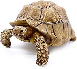 PPCLION Sulcata Tortoise Statue Figurine Collection Gift Decorations
