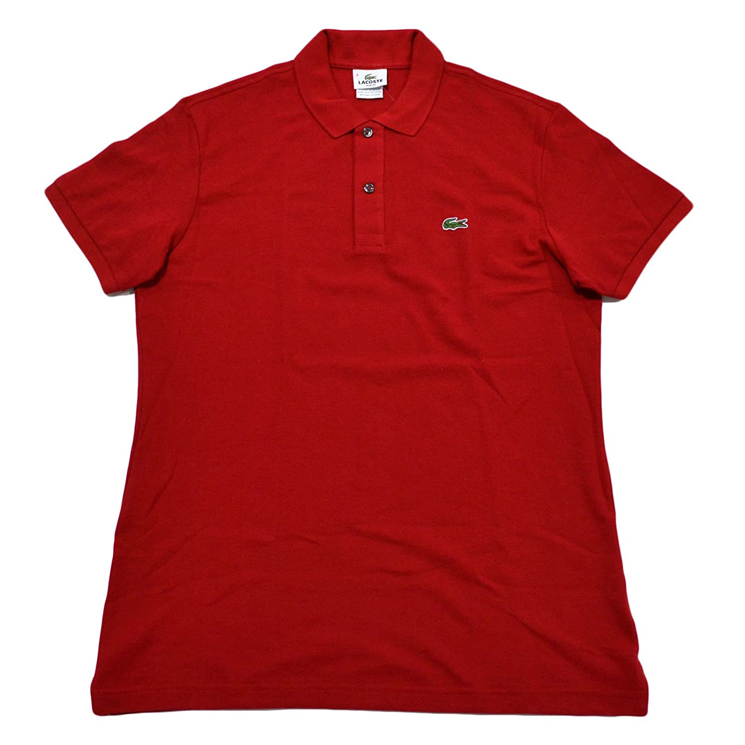 Lacoste Mens Slim Fit Mesh Polo Shirt Tokyo Red X Large Eur 7
