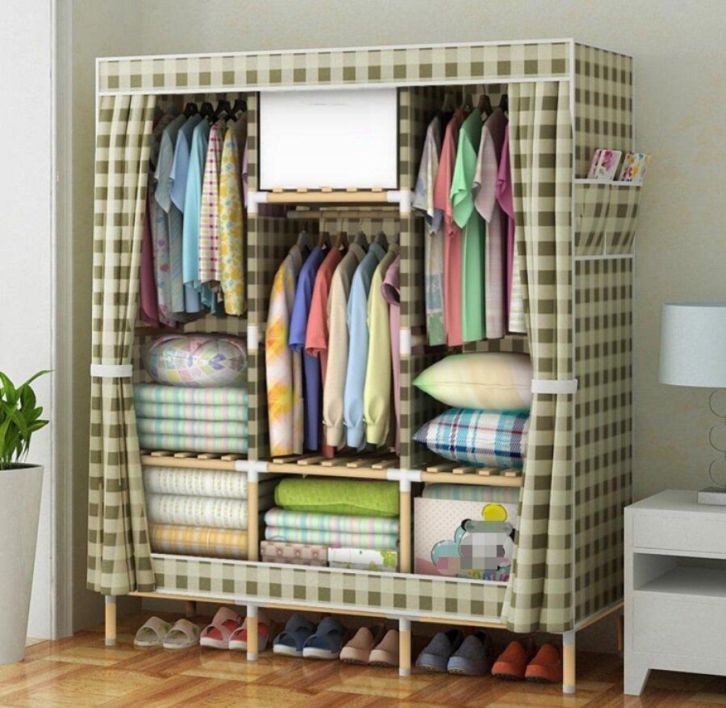 GY&H Stockage portatif de garde-robe en bois massif d'Oxford placard organisateur de stockage avec couvercle et