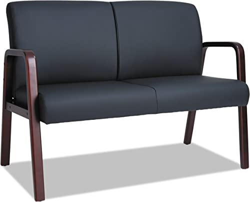Alera Reception Lounge Series Wood Loveseat