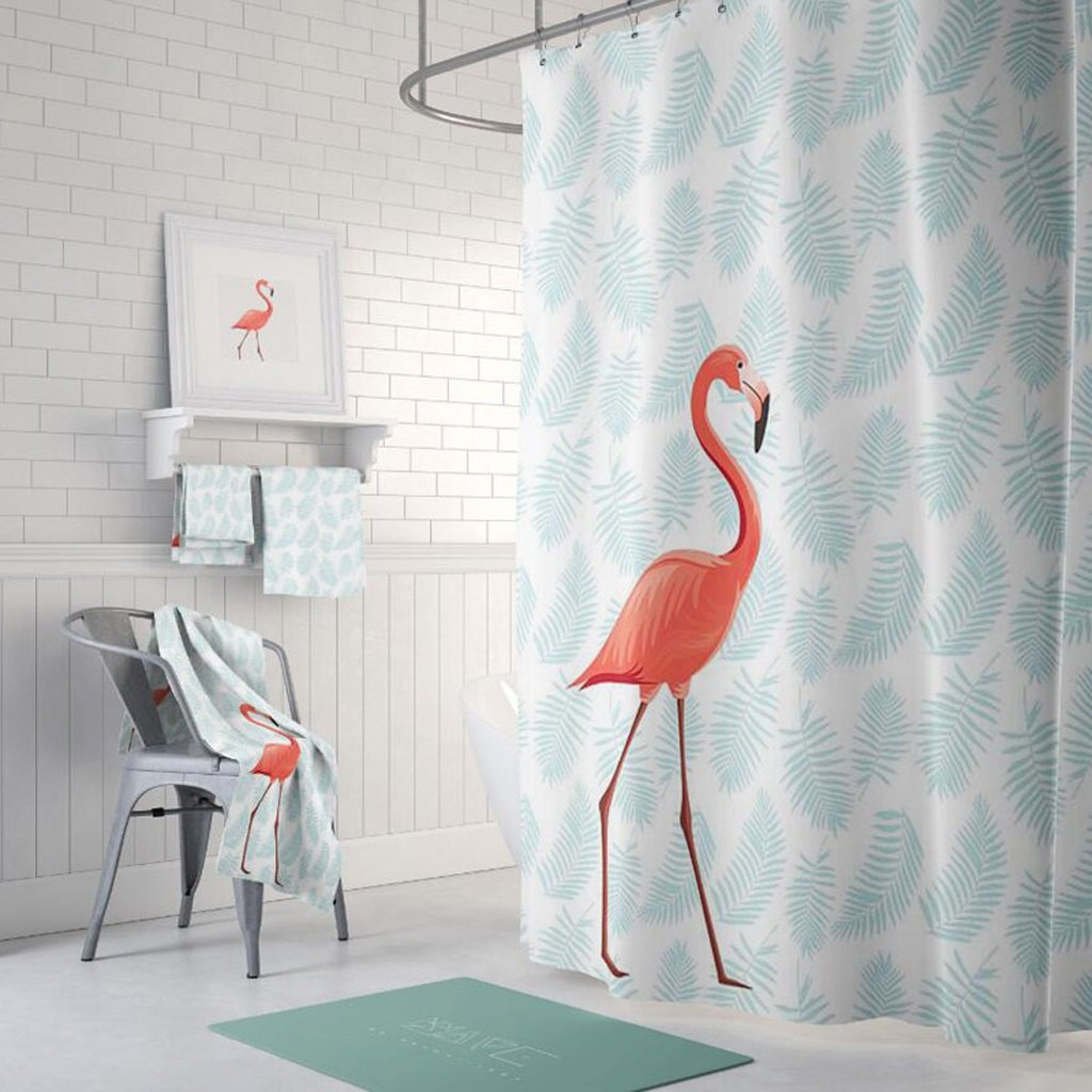 Curtain Shower Curtain,FuXing PEVA Shower Curtain Waterproof and Mildewproof Digital Printed Bath Curtains Bathroom Accessories 180 x 200 cm (71 79 inches) Shower Equipment