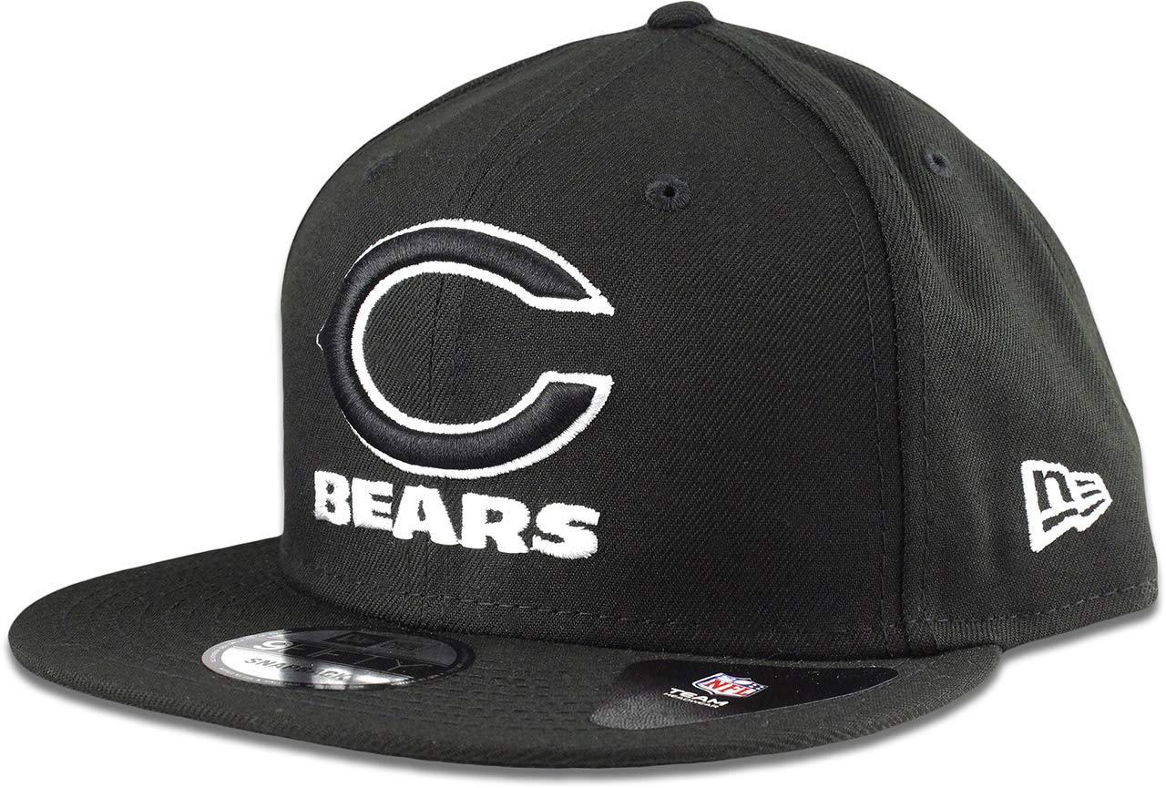 New Era Chicago Bears Hat NFL Black White 9FIFTY Snapback Adjustable Cap Adult One Size