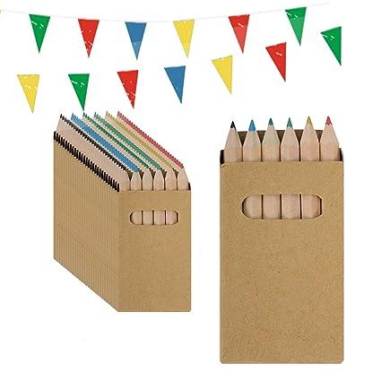 Piñata Cumpleaños Infantil Partituki. 25 Sets de 6 Lápices de Colores y una Guirnalda de 10mts. Ideal como Detalles para Niños, Fiesta Cumpleaños ...