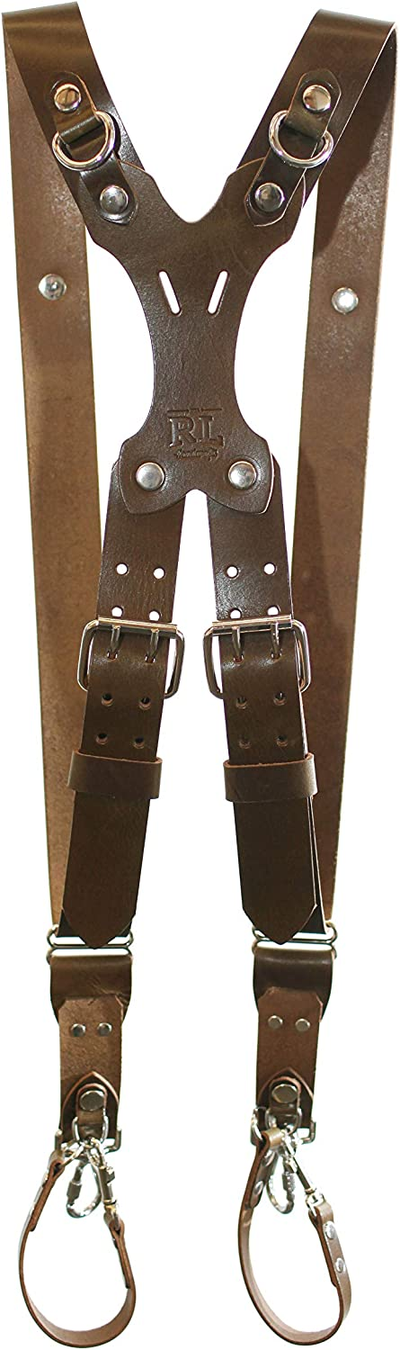 Large, Olive Green Sling /& Strap RL Handcrafts Point /& Shoot Made in The USA DLSR Mirrorless Rebel Dual Handmade Leather Camera Harness