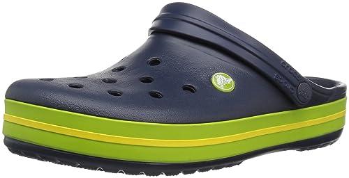 Crocband, Zuecos Unisex Adulto, Verde (Volt Green/Lemon), 45/46 EU Crocs