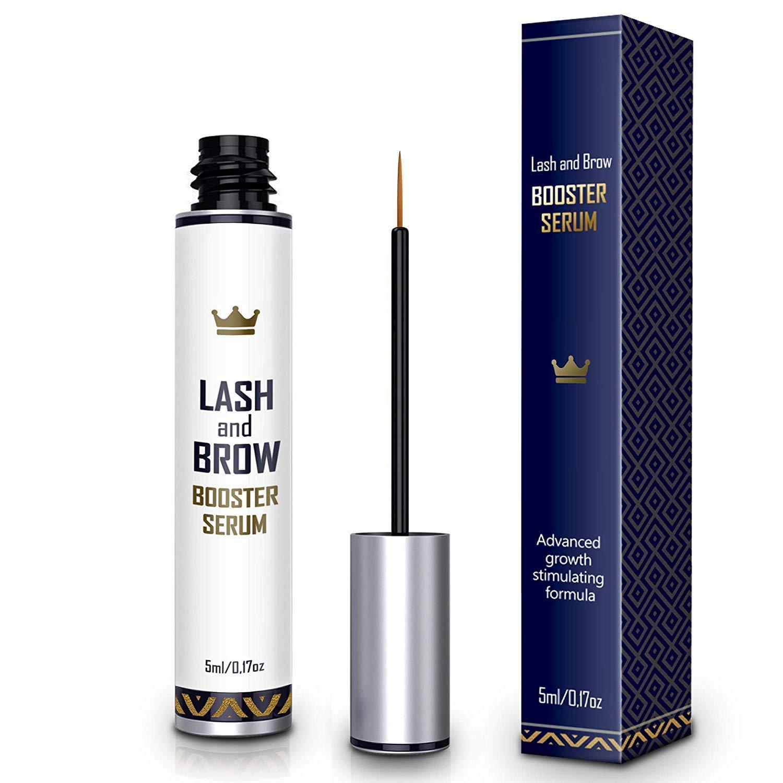 Natural Lash Growth Serum - USA Made Eyebrow Growth Enhancer - Eyelash Booster to Grow Longer Eyelashes - Lash Boost & Brow Enhancing Serum
