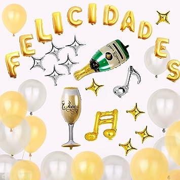 KINGTOP Globos Felicidades Decorados para fiestas Suministros y Decoración para Fiesta & Festivas Lujo Colores Variados