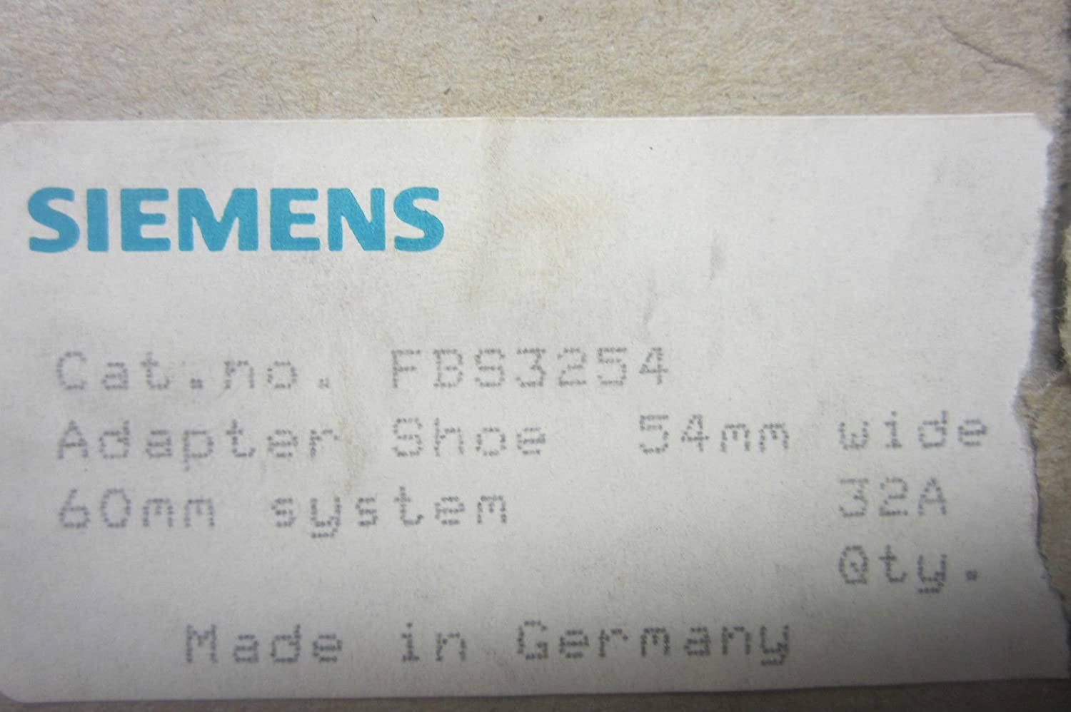 Siemens FBS3254 Adapter Shoe