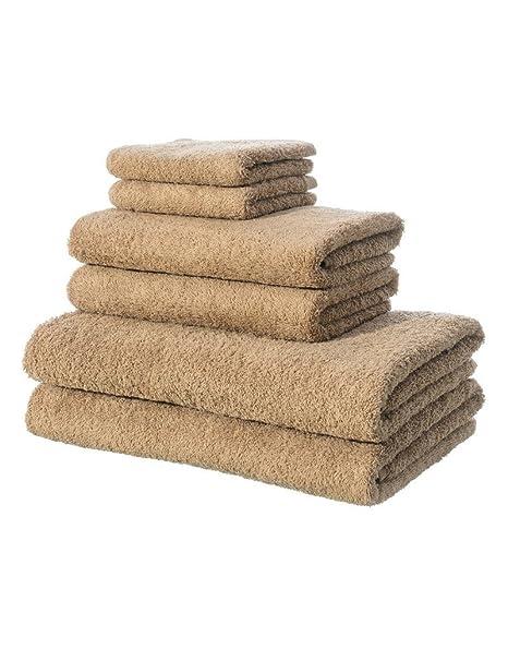 Home Line Toallas de baño - Color marrón