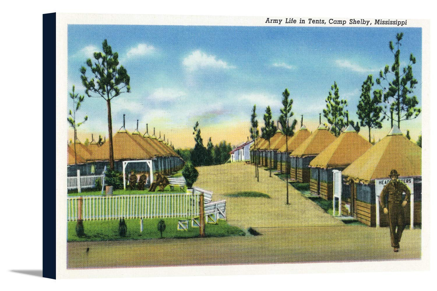 Amazon com: Camp Shelby, Mississippi - View of Army Life in