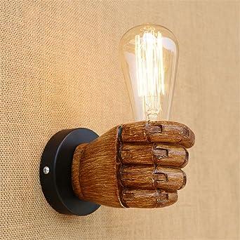 E27 Vintage mano derecha izquierda pared luz industrial retro espejo ...