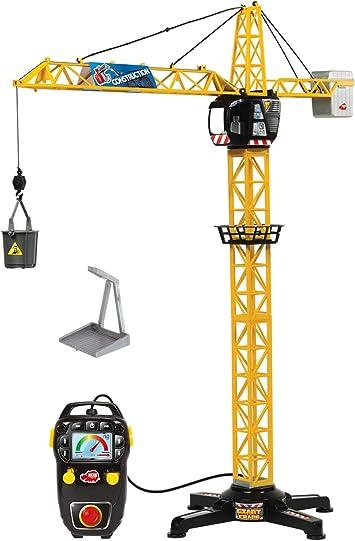Dickie Toys Baukran Riesenkran Spielzeug mit Kabelsteuerung 120cm Giant Crane DE