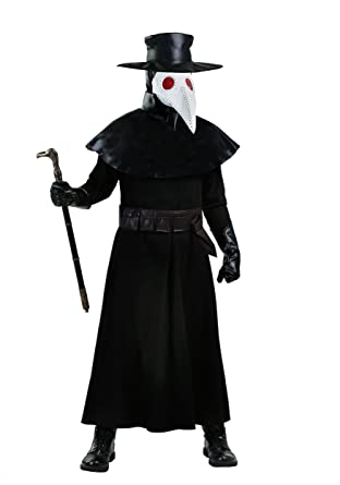 Amazoncom Bayi Co Adult Plague Doctor Costume Black Clothing