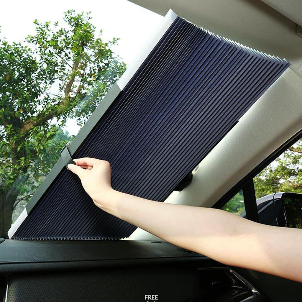 xy Sonnenschutz Frontscheibe Auto Sonnenblende Block Sommer Sonnencreme W/ärmeisolierende Sonnenblende Automatische Versenkbare Hintere Blockabdeckung Shading Mat Frontscheibe Glas Vorhang