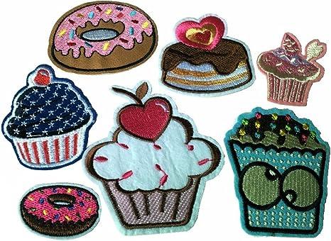 2 dulces de hierro//coser en los apliques insignia de Parche Bordado Completo
