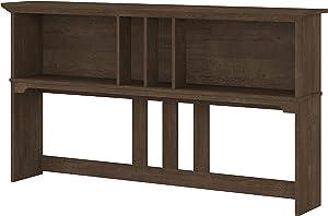 Bush Furniture Salinas Hutch for L Shaped Desk, 60W, Ash Brown
