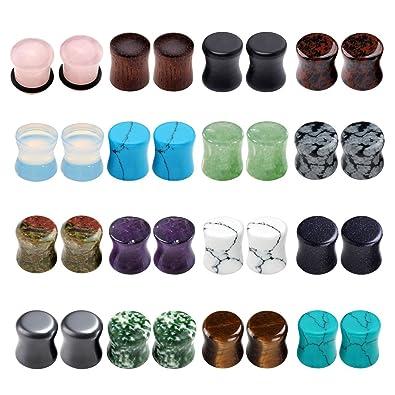 Amazon.com: Jovivi - 16 pares de dilatadores de oreja de ...