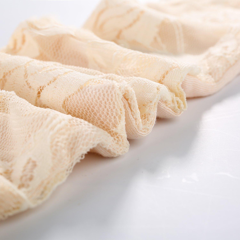 JISEN Women Long Lace Floral Half Finger Sunscreen Arm Sleeves outdoor Gloves Grey