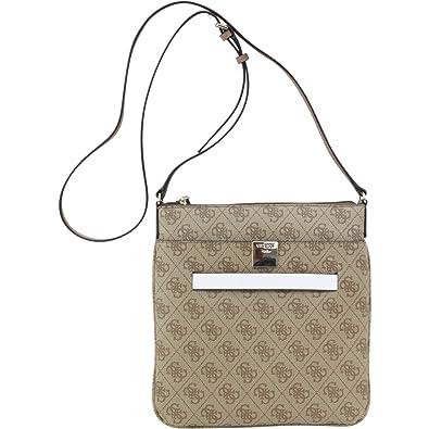e1e3565f511 Guess Women s Christy Mini Top Zip Brown Quattro G Jacquard Crossbody  Handbag  Handbags  Amazon.com