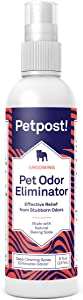 Petpost | Pet Odor Eliminator Spray for Dogs & Cats - Naturally Effective Deodorant and Bad Smell Killer - for Spraying Your Pet or Around The Home