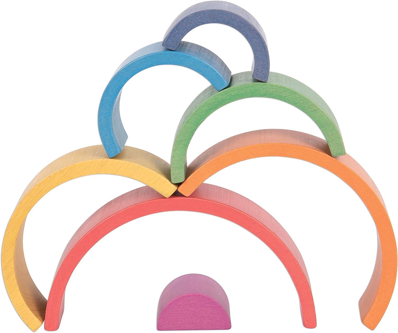 Bloques apilables para edades 12M+ TickiT Arcos Arco Arco Arco Arco Arco Arco Arco Arco Arco Arco Iris Rompecabezas Nesting