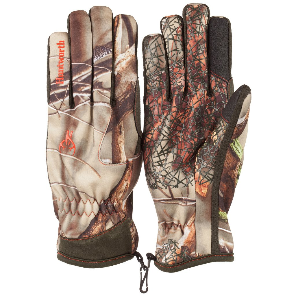 Huntworth Men's Fleece Lined Stealth Hunting Gloves, Oak Tree EVO,X-Large