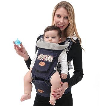 Amazon.com: Baby Carrier Ergonomía Sling ligero, portabebés ...