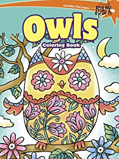 Owls Coloring Book (Dover Coloring Books): Noelle Dahlen ...
