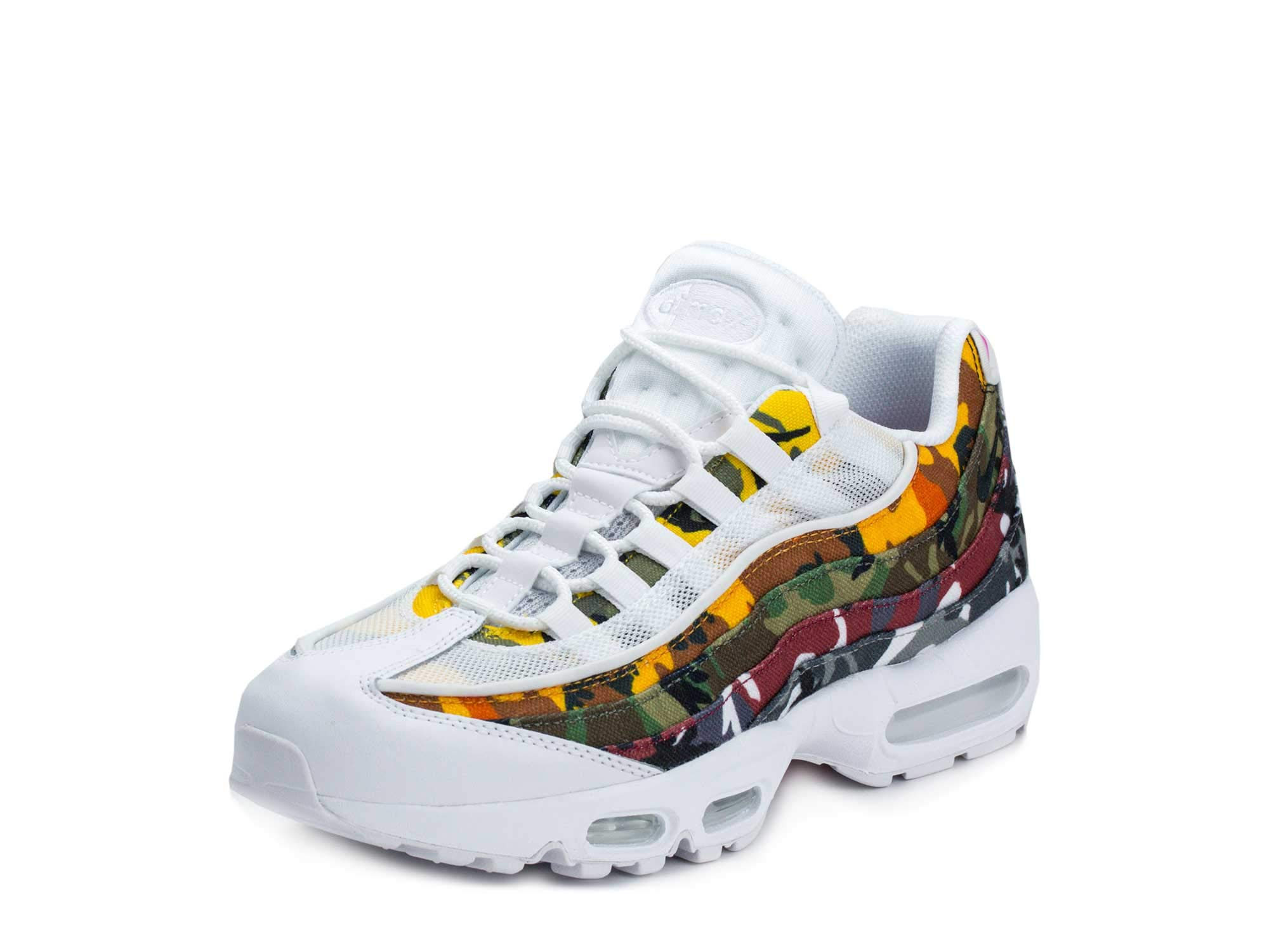 promo code 00e80 300d5 Nike Men's Air Max 95 ERDL Party, White/Multi-Color, 8.5 M US