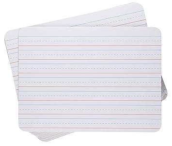 Pizarras blancas de borrado en seco, paquete de 12 unidades, doble ...