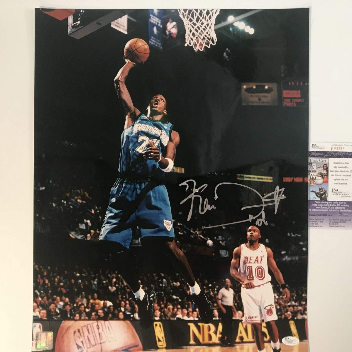new product 28662 746ac Autographed/Signed Kevin Garnett Minnesota Timberwolves ...
